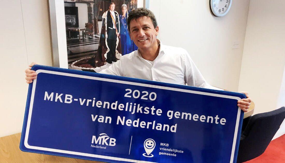 MKB-vriendelijkste gemeente 2020 Jacco Vonhof